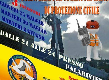 Al via il 1° Corso Base per Operatore Radio di Protezione Civile