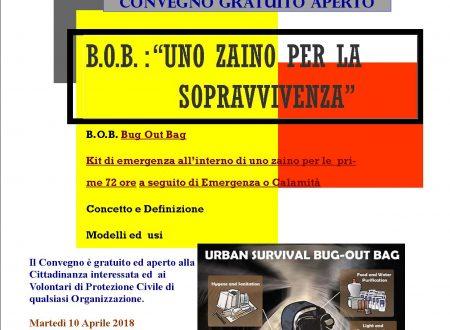 LO ZAINO DI SOPRAVVIVENZA PER LE PRIME 72 ORE A SEGUITO DI EMERGENZA